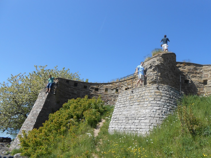 Part of the ruins of Näs Castle, the oldest castle in Sweden