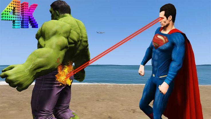 Superman vs Hulk. GTA V https://youtu.be/hmPLQ3NHjR4