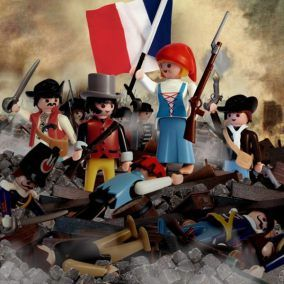 Richard Unglik_La Liberte guidant le peuple d Eugene Delacroix