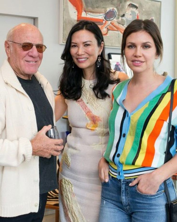 Barry Diller , Wendi Murdoch  and MamasInTheBuilding Dasha Zhukova at DVF's and Natalia vodianova's naked heart foundation lunch