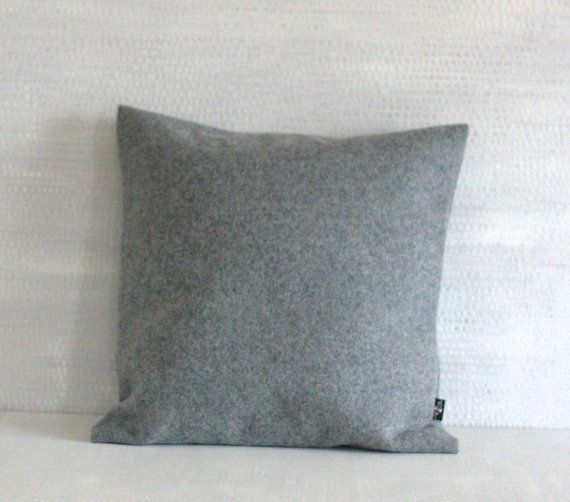 Gray wool pillow case. Interior design. Check out this item in my Etsy shop https://www.etsy.com/listing/277766036/neutral-pillow-case-woolen-minimal