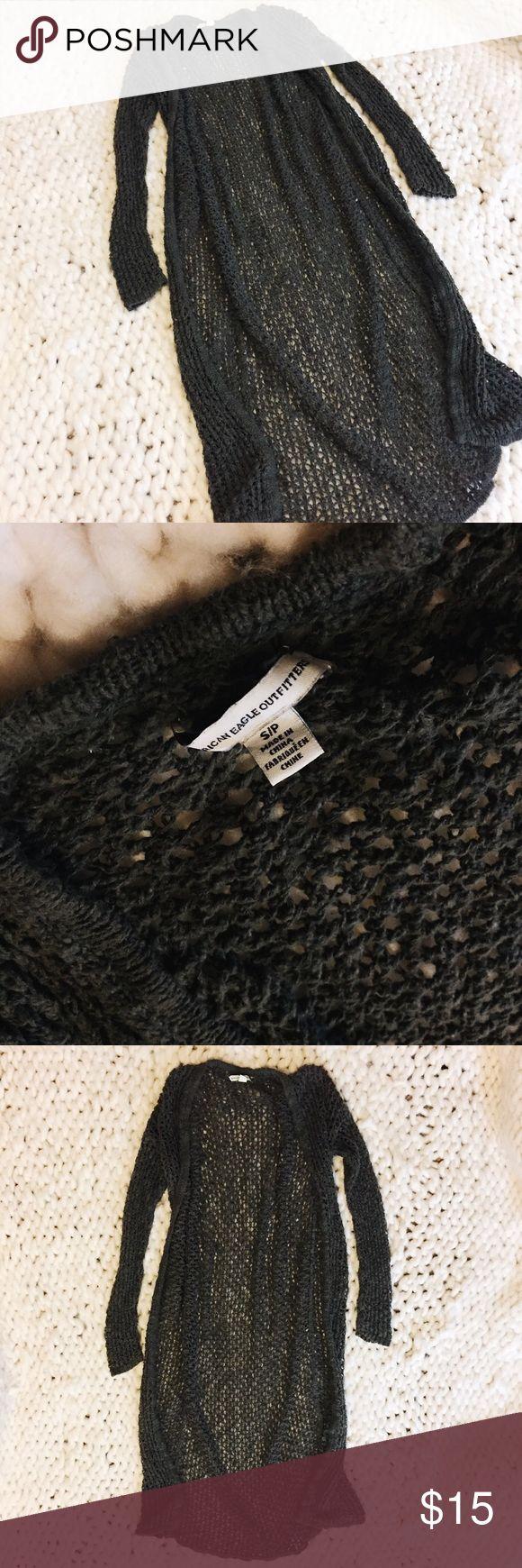 American Eagle Knit Cardigan American Eagle Long Knit Cardigan American Eagle Outfitters Sweaters Cardigans #americaneagleoutfitters