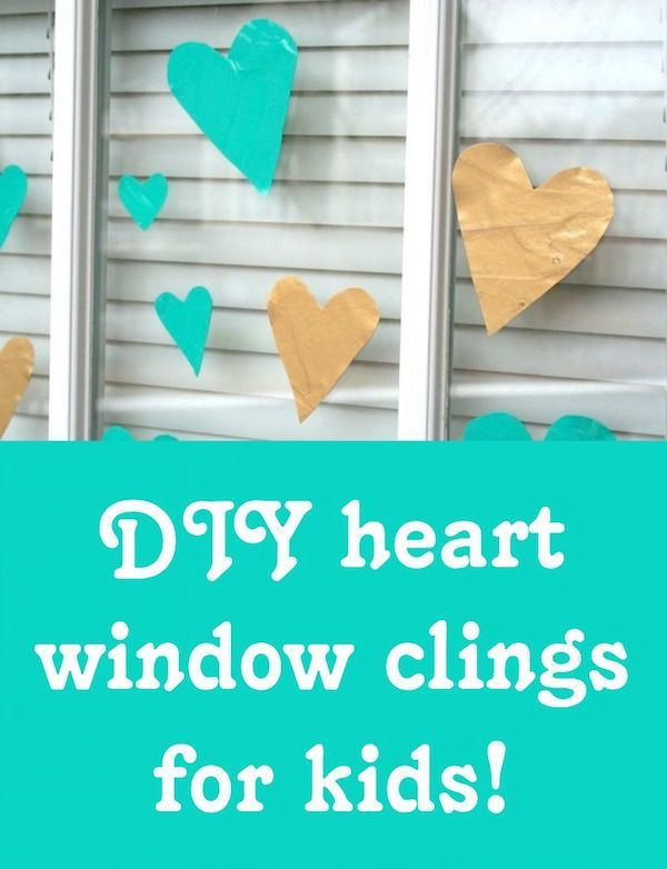 Make Valentine Window Clings with Kids