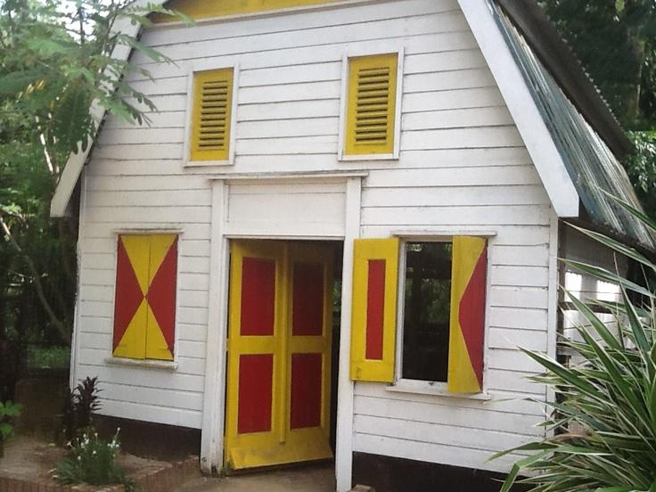preserved slave house in Suriname