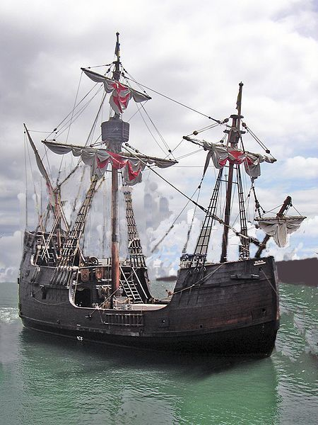 This is a replica of the ship that Christopher Columbus once sailed on to the new world (America). I chose this picture because it compares how people travel far distances in the 15 centre.
