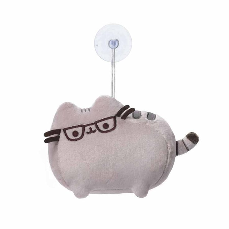 Stick this adorable Pusheen plush to your mirror (or anywhere!). She's happy to get a better look at you, wearing her cute glasses!