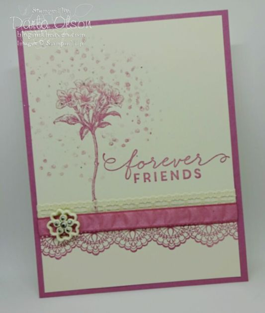 #SendACardToAFriendDay handmade card created with #stampinup #avantgarden #delicatedetails #saleabration shared by Darla Olson @inkheaven www.darlaolson.stampinup.net