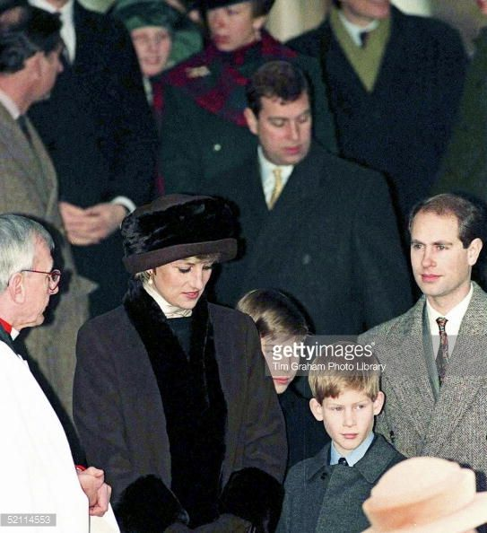 Princess Diana Prince Wiliam And Prince Harry With Prince Charles At Church On Christmas Day Get premium, high resolution news photos at Getty Images