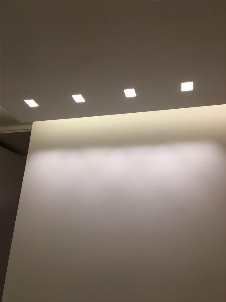 Lighting project, abitazione privata Roma, incasso scomparsa luce wall washer. www.illuminatiweb.it
