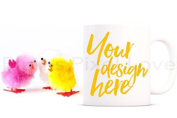 Easter Mug Mockup by Plums Pixel Love on @creativemarket