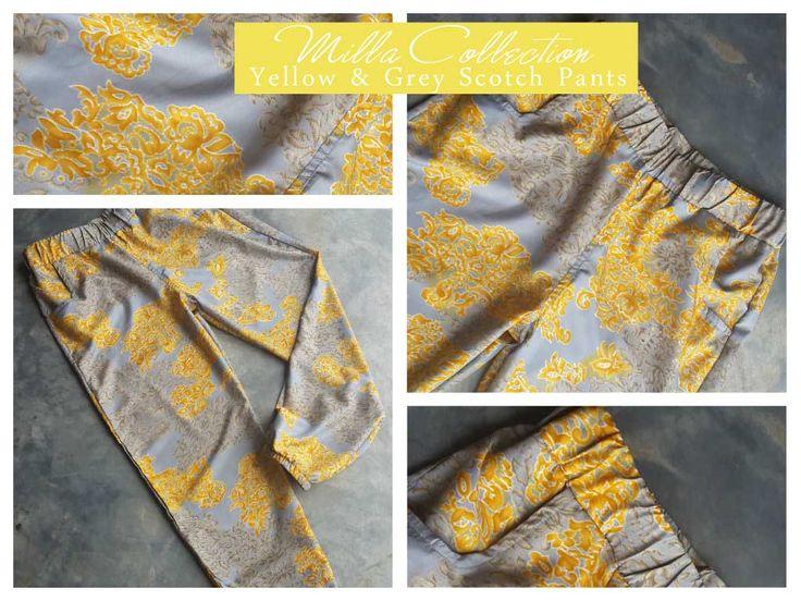 Yellow & grey scotch pants