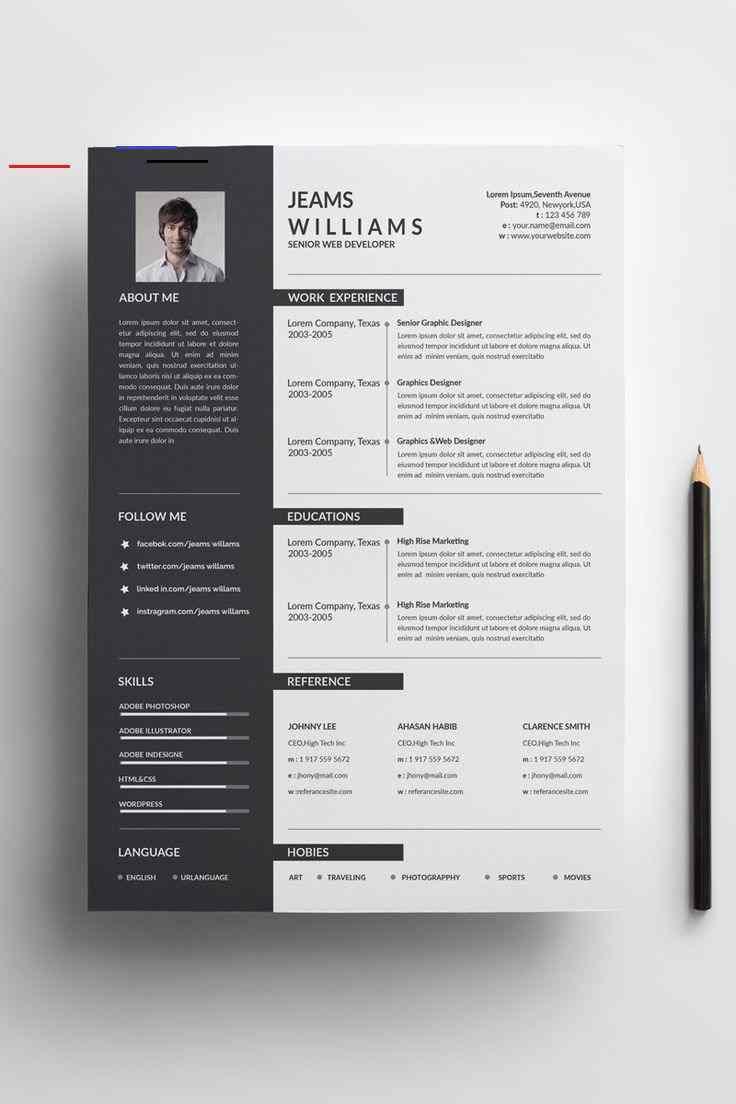 Kavin Creative Resume Template 84073 Nel 2020 Modello Cv