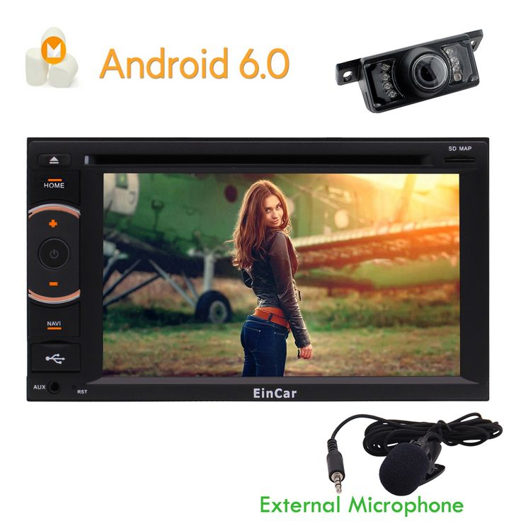 Android 6.0 Marshmallow Double DIN In Dash Autoradio Car GPS Navigator With 7 Inch Mulit-Touch Screen 1080P Support Blutooth Steering wheel control WIFI USB OBD 3G/4G Mirror link CAM-IN Remote Control Car DVD CD Receiver