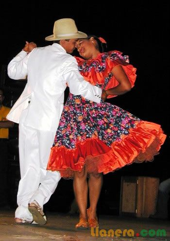 Joropo, traditional Venezuelan dance.                                                                                                                                                     More