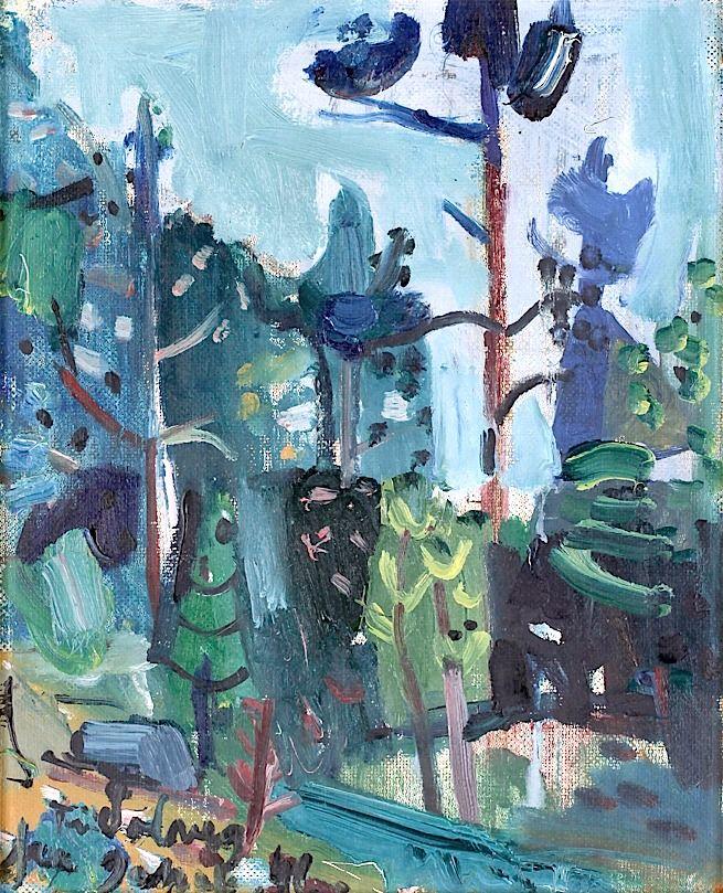 """huariqueje: """" Landscape - Jakob Weidemann , 1946 Norwegian,b.1923- Oil on panel, 41 x 33 cm. """""""
