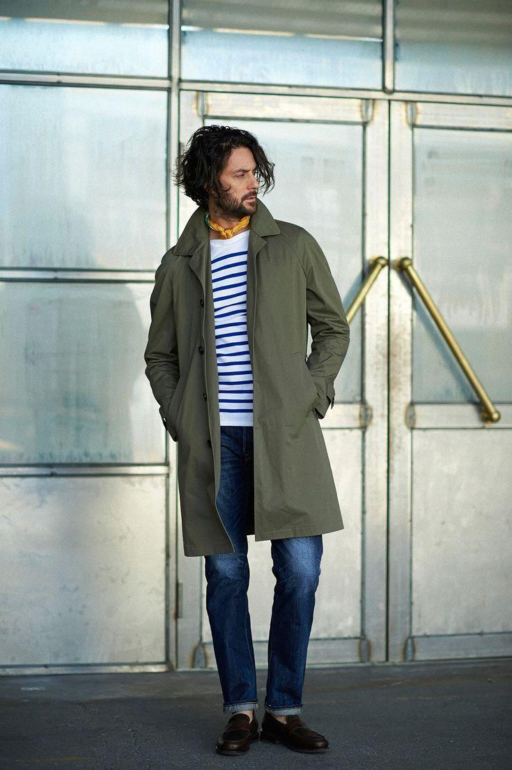 ジャケット代わりのスプリングコートは、いま話題のアウター専業ブランドPALTÒから選ぶ。