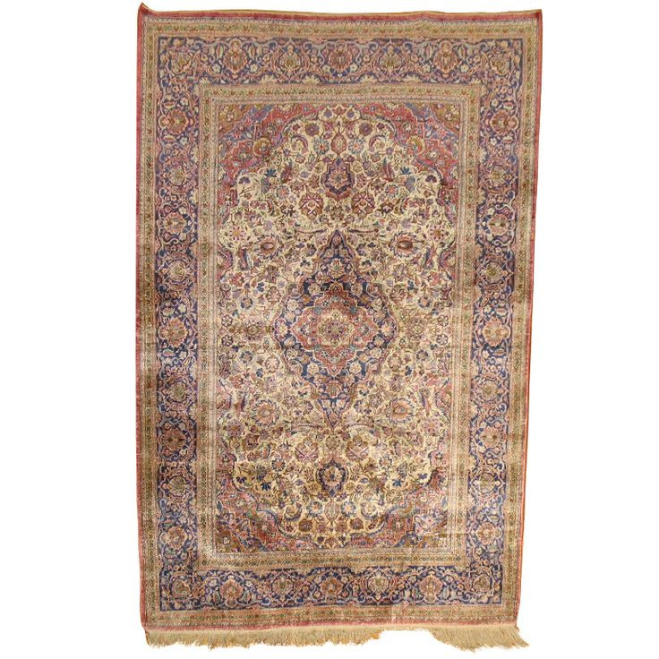 Silk Kashan Rug | From a unique collection of antique and modern persian rugs at http://www.1stdibs.com/furniture/rugs-carpets/persian-rugs/