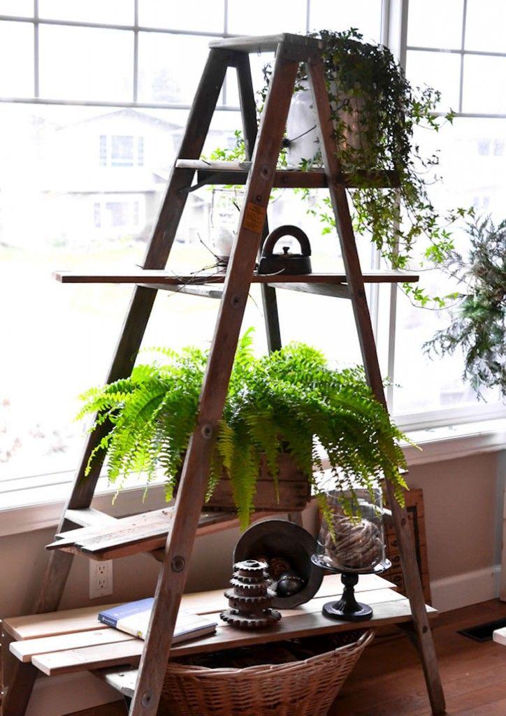 Hacer una estantería con una escalera