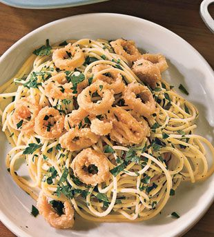 Amalfi Calamari Pasta    http://www.bonappetit.com/recipes/2011/01/amalfi_calamari_pasta