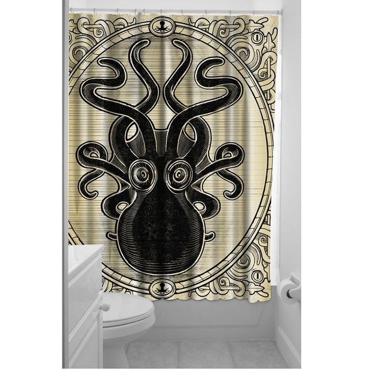 Thumbnail photo of Kraken Shower Curtain (PreOrder June Shipping)