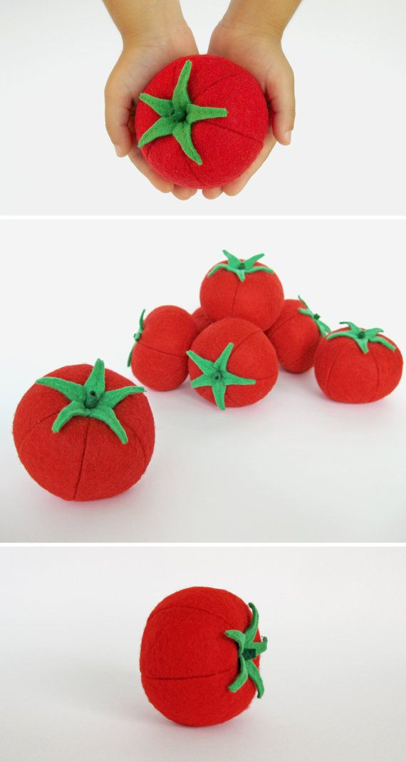 Groenten toy tomaat cadeau idee meisje baby jongetje iDroid spelen voedsel fruit Montessori speelgoed Waldorf Plushie keuken eten voelde groenten instellen