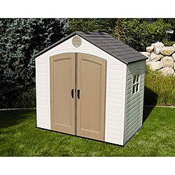 lifetime storage shed 8 x 5 grey plastic 6406 - Garden Sheds 8 X 5