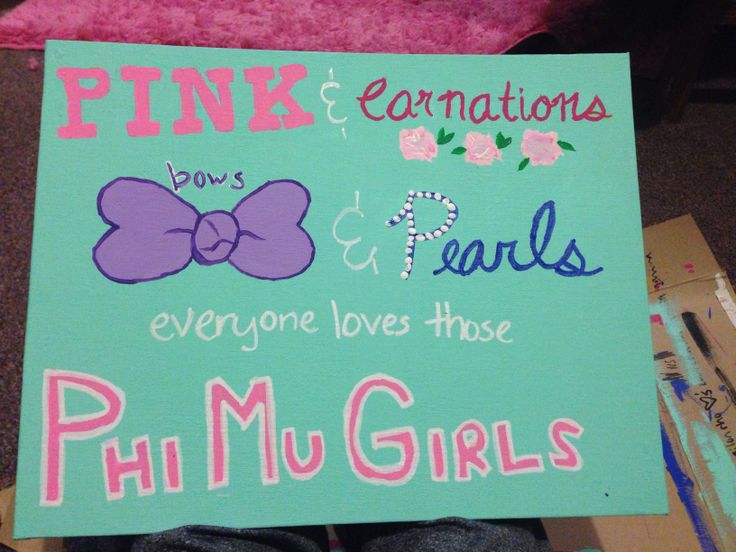 Phi Mu craft canvas