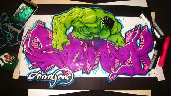 Graffiti sketch Sonny