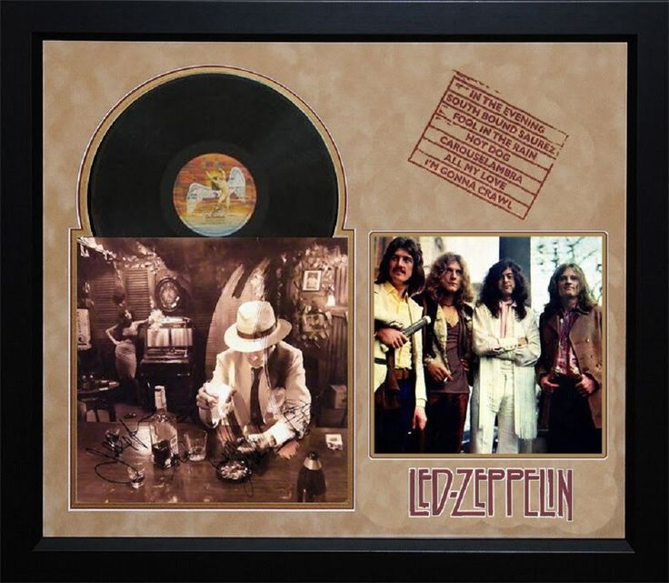 Led Zeppelin - In Through the Out Door - Album LP Signed by 4 Members - Framed + Dual COA