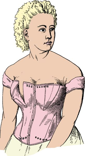 Nursing Corset 1835...By 1800, the corset had become primarily a method of supporting the breasts, as the waist was raised to just under the bust line. Corsets still slimmed the torso but this was not their primary purpose.