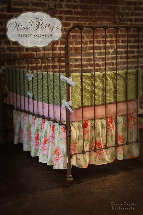 Custom Baby Crib Bedding Design Your Own by MissPollysPieceGoods, $250.00