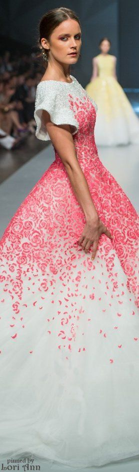 Michael Cinco Spring 2015 RTW...love this minus the cap sleeves. would look better either off the shoulder or strapless