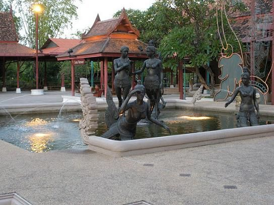 Images on the grounds of the Ratchada Theatre in Bangkok, Thailand