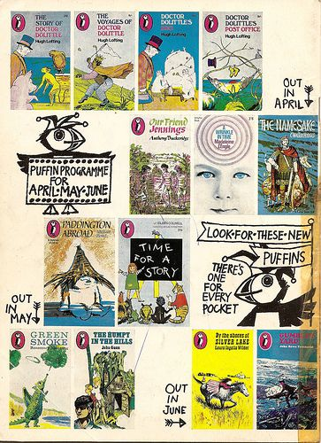 Puffin Books published in April, May and June 1967. (Back cover of Puffin Post magazine # 1.)