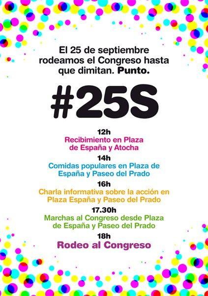 #25S rodea el congreso - programa