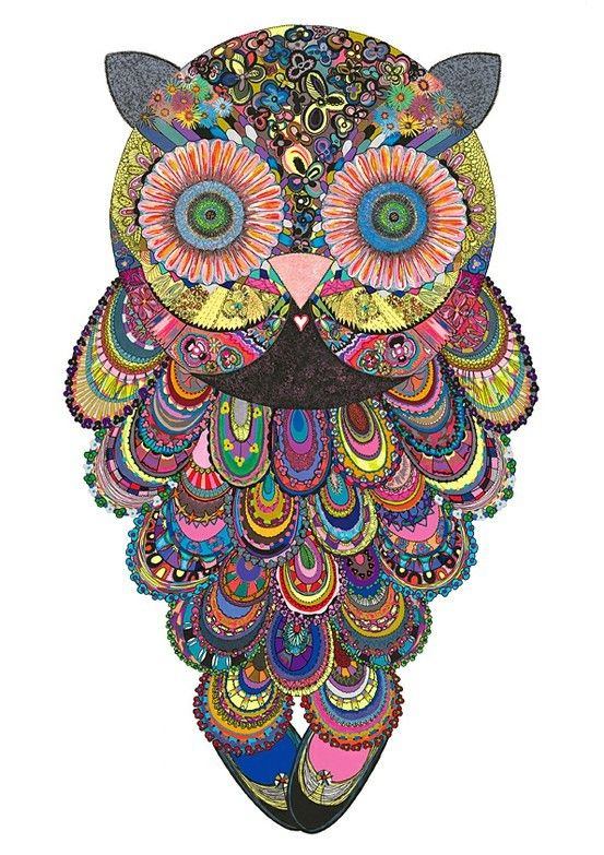 owls owls owls owlsPsychedelic Owls, Inspiration, Stuff, Owls Tattoo, Colors, Owls Owls, Owls Art, Things, Art Texture