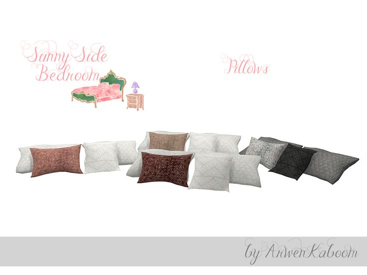 Sunny side pillows in four recolors. Found in TSR Category 'Sims 4 Clutter'