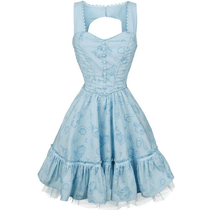 Alice im Wunderland  Kurzes Kleid  »Through The Looking Glass - Alice Classic Dress« | Jetzt bei EMP kaufen | Mehr Fan-Merch  Kurze Kleider  online verfügbar ✓ Unschlagbar günstig!