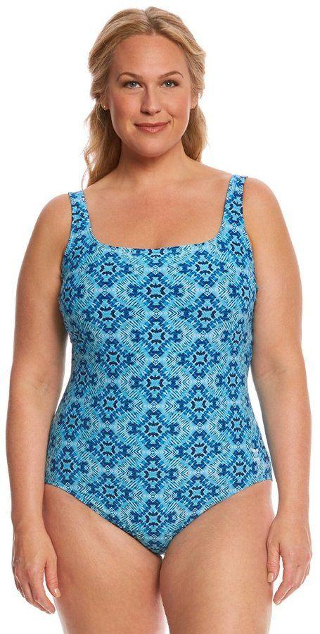 TYR Women's Plus Size Diamond Valley Aqua Controlfit One Piece Swimsuit  8157976