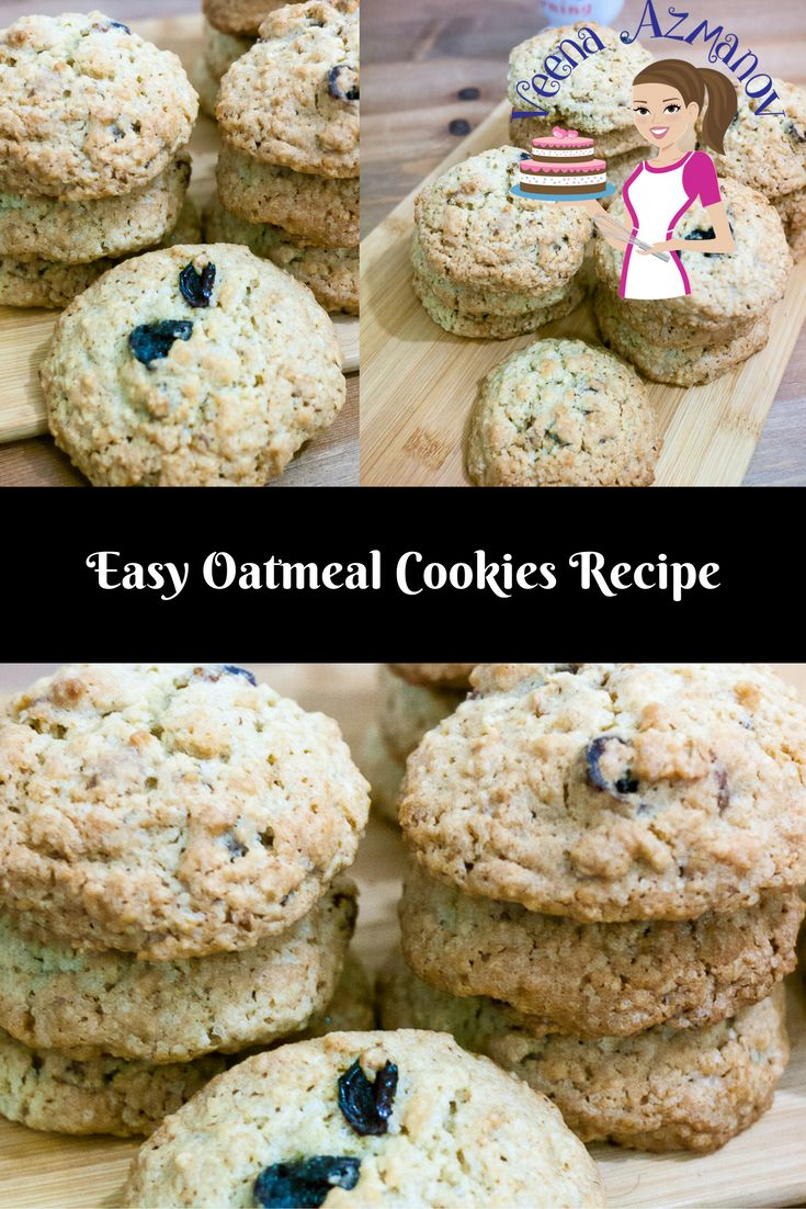 EASY OATMEAL COOKIES RECIPE WITH PECANS AND RAISINS  Nothing beats the smell and taste of home baked fresh Oatmeal cookies. The addition of oatmeal with the fruit and nuts makes them a sumptuous and perfect for a snack or even a quick breakfast.  Easy Oatmeal Cookies, Easy Oatmeal Cookie Recipe, How to make Oatmeal cookies, Oatmeal cookies, Classic Oatmeal Cookies, Breakfast in a cookie, Oatmeal cookies with nuts