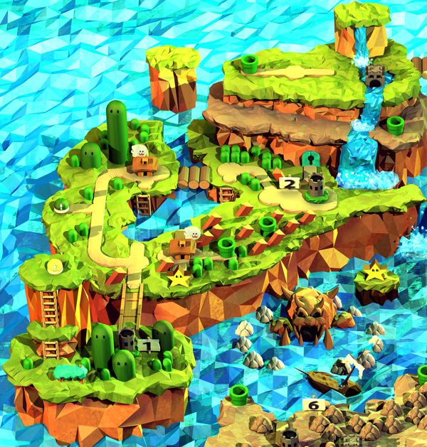 Super Mario World by Steph Caskenette, via Behance