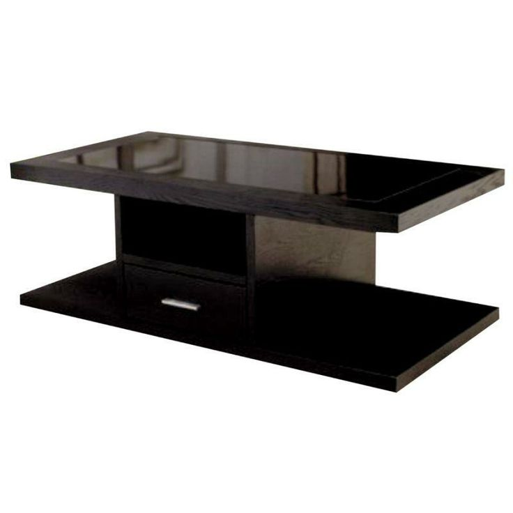Wooden TV stand.