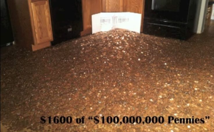 One Hundred Million Dollar Penny $700,000,000,000 Tarp Bailout: 7000 pennies ($70) $16,000,000,000,000 Secret Federal Reserve Bailout: 160,000 pennies ($1600)