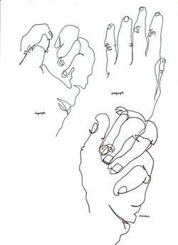 drawing hand without looking - Google zoeken