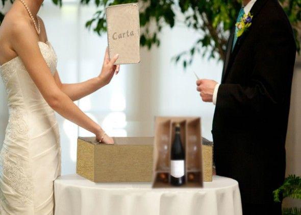 ritual da carta e da caixa de vinho