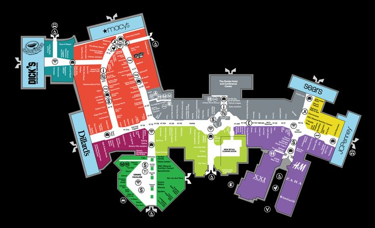 Mall Map For The Florida Mall®, A Simon Mall - Located At Orlando,