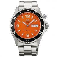 Montre Orient Mako Orange. Cette montre automatique plaît pour son originalité et son style vraiment unique. A porter sans modération !