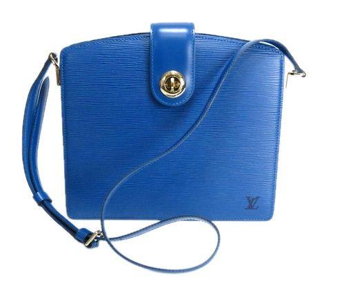 Louis Vuitton Blue Epi Leather Capucines Bag