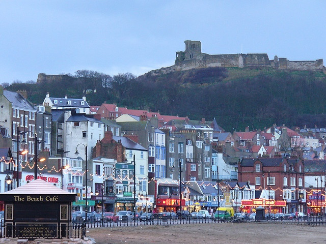 Scarborough, England watch out for the pony poop all over the beach....they give kids rides on ponies...