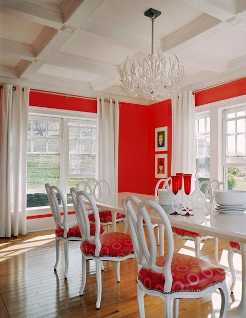 Cool 1000 Ideas About Red Dining Rooms On Pinterest Long Walls Largest Home Design Picture Inspirations Pitcheantrous